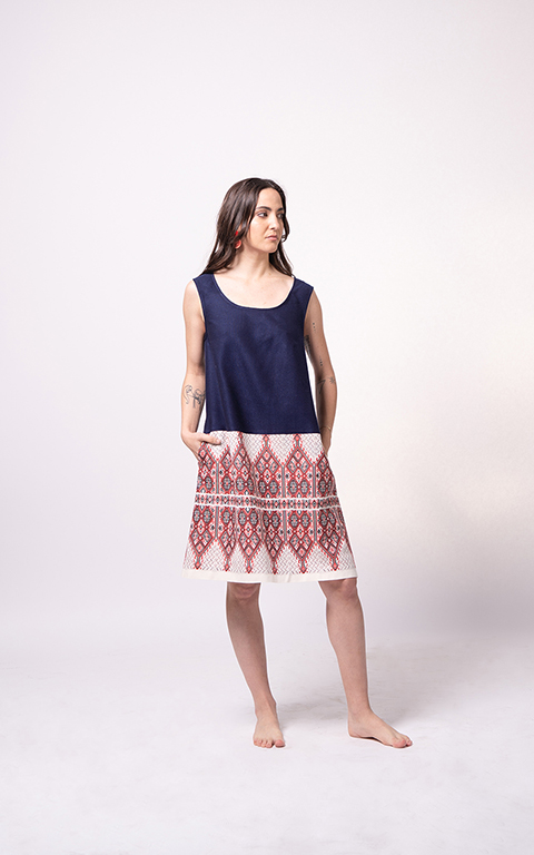 Palaiologue Sartza Blue Dress